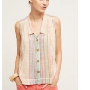 Anthropologie [Holding Horses] smocked tank top